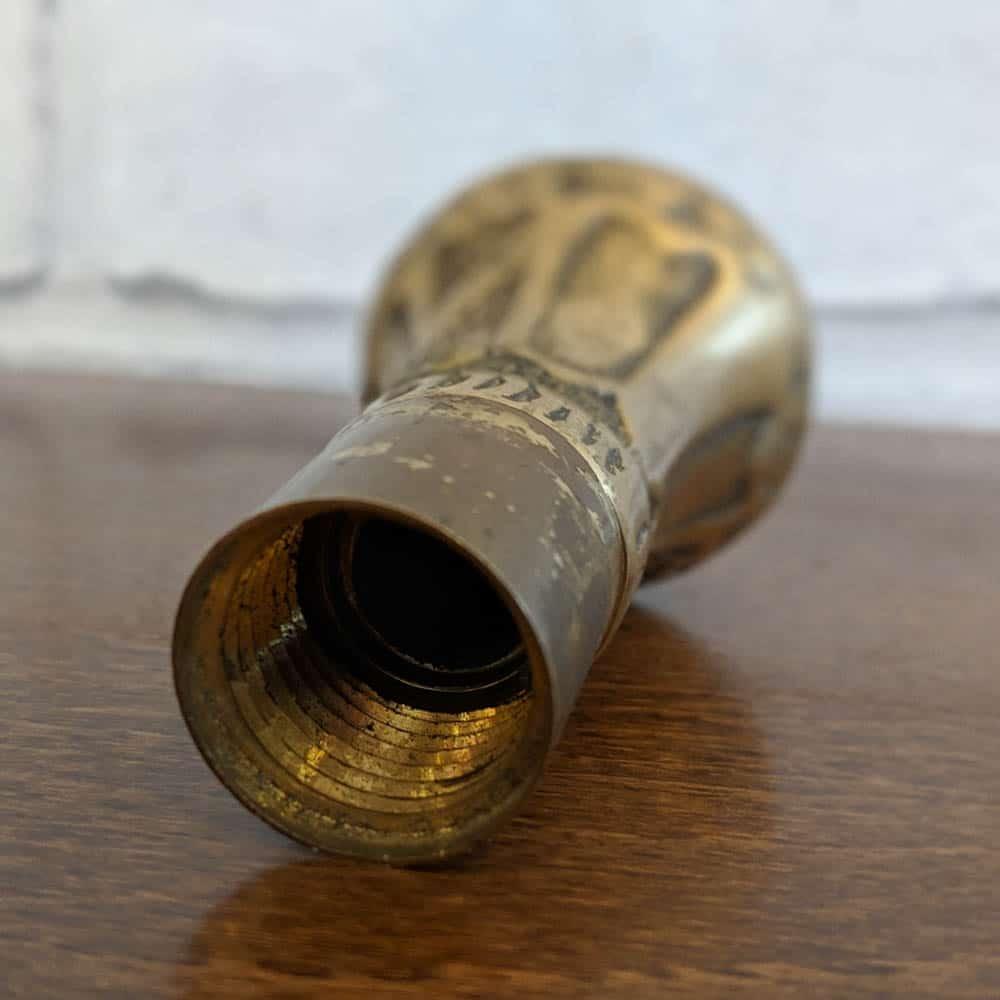 Brass Walking Stick Handle Retro